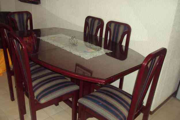 Juego de comedor 6 puestos cali hogar jardin muebles for Comedor 8 puestos