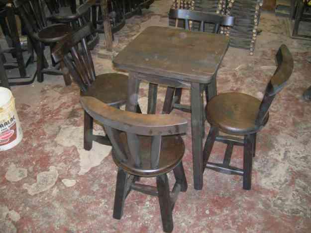 Juego de comedor mesa con sillas para bar restaurante for Sillas bar muebles y accesorios