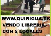 Ofertazo. vendo 2 locales. con librerÍa y papeleria. esquinera. con baÑo. 150 millones. in