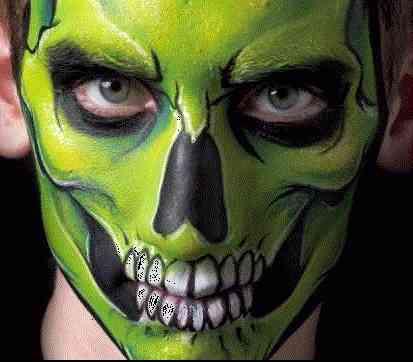 Pintura facial pintu caritas halloween zipaquir - Pintura cara halloween ...