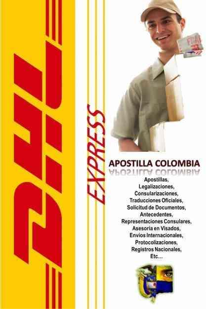 Oficinas apostilla dhl express y expreso bolivariano sa for Oficinas dhl colombia