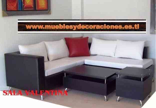 Sala contemporanea sofas rinconera muebles zuisa for Muebles salas contemporaneas