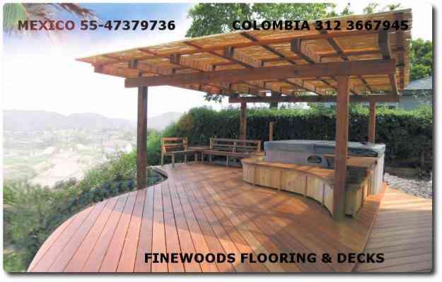 Teca decks guayacan sapan pisos en madera exterior - Madera teca exteriores ...