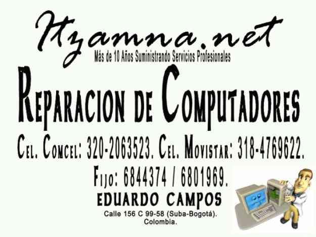 REPARACIÓN DE COMPUTADORAS DE ESCRITORIO Y PORTÁTILES BOGOTÁ CHÍA Y COTA (DOMICILIOS)