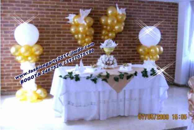 Gran promocion en decoracion con globos bogot capital for Decoracion de bombas para bautizo