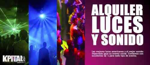 Alquiler luces y sonido para eventos sociales (fiestas)
