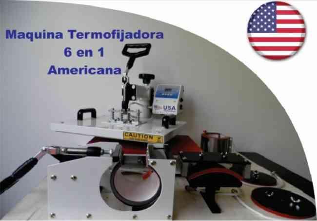 venta de termofijadora industrial 6 en 1 americana, mas curso completo en cali