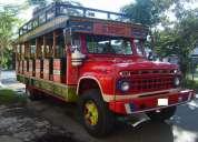 Vencambio camión de escalera chiva ford 600 modelo 65 con motor diesel nissan 180,