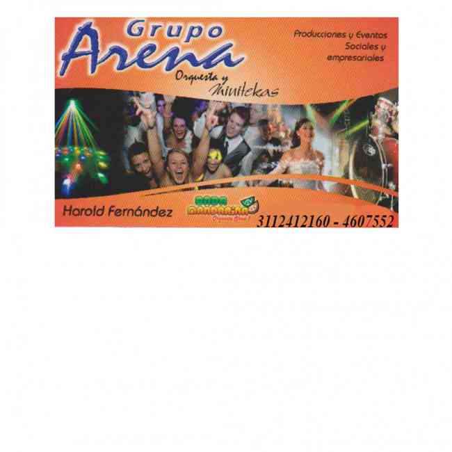 Grupo Arena - Producciones Y Eventos Sociales Y Empresariales - Minitecas