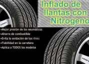 Nitrógeno en las llantas,inflado de nitrógeno,inflado con nitrógeno
