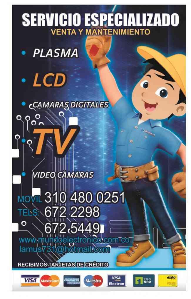 VENTA DE REPUESTOS ORIGINALES Y SERVICIO DE REPARACIÓN DE LCD, PLASMA Y LED.