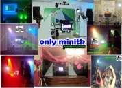 Miniteca pistas de baile luces sonido medellin