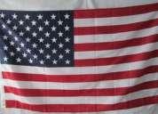 Bandera de estados unidos usa(tamaño 90x150cms) material polyester $35.000 doble faz