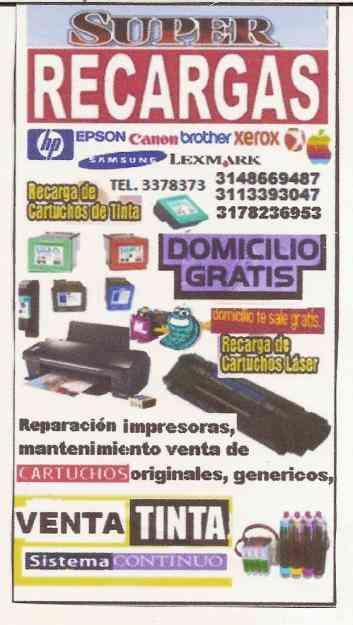 RECARGA DE CARTUCHOS