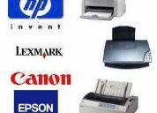 Mantenimiento impresoras, fax, fotocopiadoras.