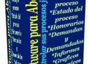 Programa de control  de procesos juridicos  para abogados