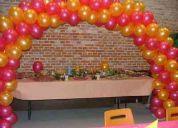 Servicio de inflado de globos en helio  o  aire domicilios