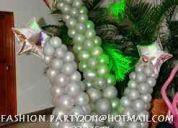 Globos navideÑos y decoracion fashion party