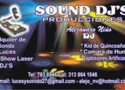 Alquiler de sonido  luces audioritmicas para toda clase de eventos