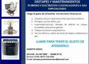 Plomero y electricista e instalaciones a gas - especializado