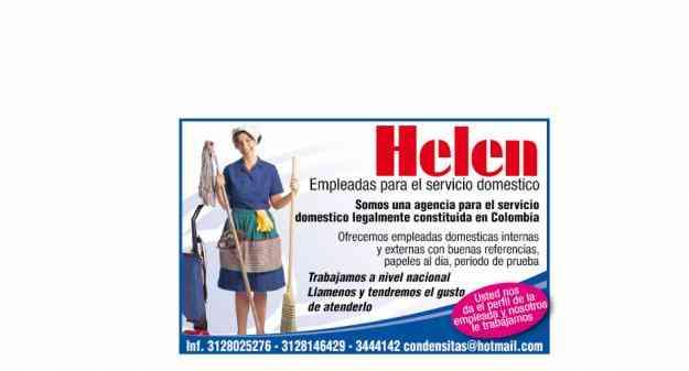 HELEN EMPLEADAS PARA EL SERVICIO DOMESTICO