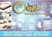 Lavado e higenizacion de: muebles, alfombras ,colchones , quirofanos, ambulancias