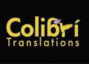 Colibrí translations - traducciones y interpretaciónes en bogotá, colombia