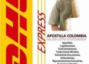 Apostilla colombia en pasto nariÑo, dhl express colombia
