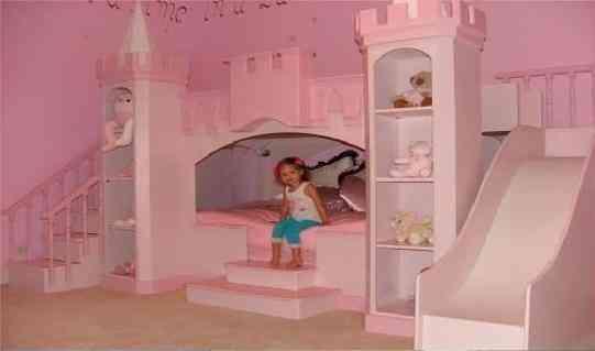 Camas castillos casas dormitorios alcobas ni as ni os - Casas de princesas ...