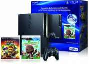 Playstation 3 160 gb con 2 juegos