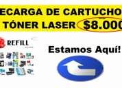 Recarga de cartuchos toner laser chapinero bogota reseteo hp canon samsung suministros