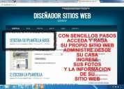 Arriendo servicio su sitio web en minutos, 50.000 pesos mensuales
