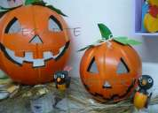 Calabazas en icopor decoracion haloween