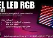 Alquiler  de luz de ambientación  panel led  rgb
