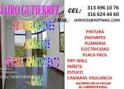 Instalacion pintura enchapes estuco paÑete casa apto 3134961076