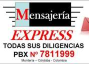 MensajerÍa express  pbx nº 7811999 - montería - córdoba