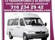Te transportamos, viaje expreso, paseos, excursiones, servicio escolar, viajes, etc,  turismo, local