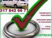Alquilo camioneta, con conductor, 16 pasajeros, te trasladamos al viaje, paseo, evento, excursion, d
