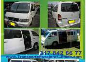 Gangazo, rento micro bus con conductor, 16 pasajeros, transporte puerta a puerta, al viaje, paseo, e