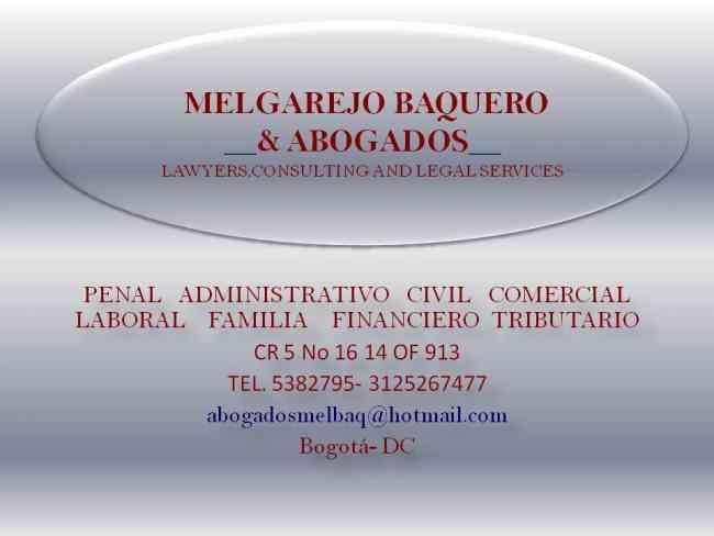 ABOGADOS: CONSULTAS ESPECIALIZADAS. DERECHO CIVIL, PENAL, ADMINISTRATIVO,LABORAL