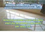 Remodelaciones casas pintura interiores enchapes 321 481 97 23