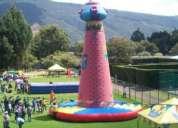 Muros de escalar, torres de escalar, bingos fiestas
