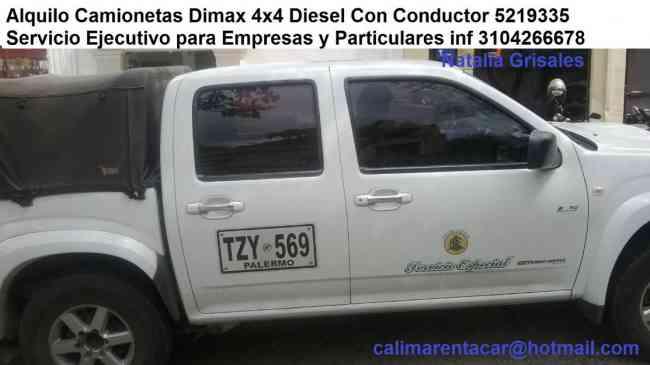 Alquilo Camioneta Dimax 4x4 Diesel Full Equipo