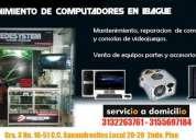 Reparación y mantenimiento de computadores y consolas de videojuegos venta de partes.