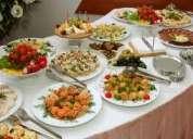 Servicio de banquetes y decoración de fiestas toda ocacion
