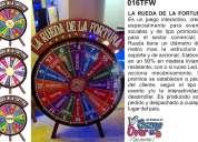 Fabricamos y vendemos ruletas de la fortuna para eventos y otros promocionales