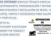 Mantenimiento, reparacion y venta de computadores y partes