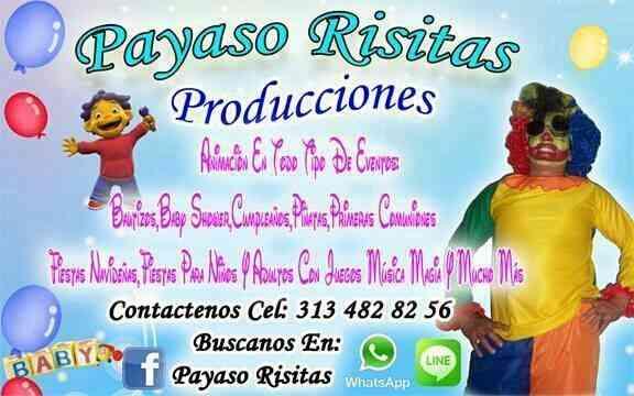 ANIMACION FIESTAS Y EVENTOS CON EL PAYASO RISITAS