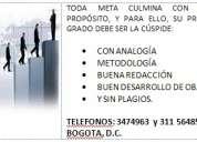 Articulos, anteproyectos, tesis 3474963 pregrado y especializacion. excelentes