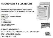 Reparacion de estufas a gas, electricas, industriales, cali valle del cauca